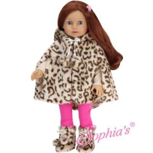 Sophia's Animal Print Fur Cape & Boots