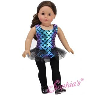 Sophia's Iridescent Jazz Leotard with Tutu Trim