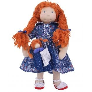 Ciao Bimba  Waldorf Child Doll Rachel, 40cm
