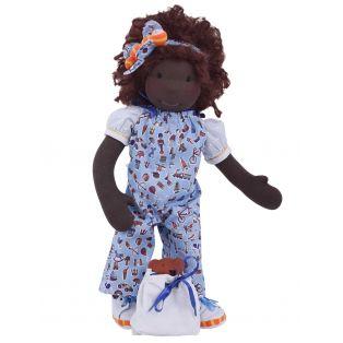 Ciao Bimba African Waldorf Child Doll Zara, 40cm