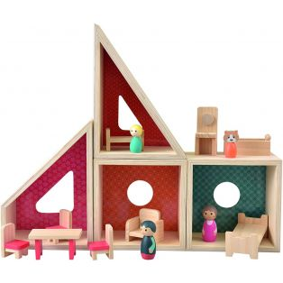 Egmont Modular Wooden Complete Doll House Play Set alternate image