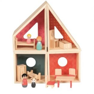 Egmont Modular Wooden Complete Doll House Play Set