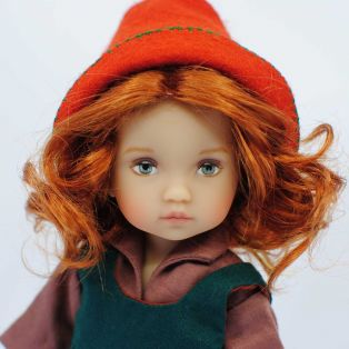 "BONEKA Tuesday's Child Enya & Flynn ""The Elves"" L/E 6 GREEN EYES 25cm Doll"