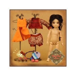 Ruby Red Galleria Four Kindergartner Mia Doll Set 20cm