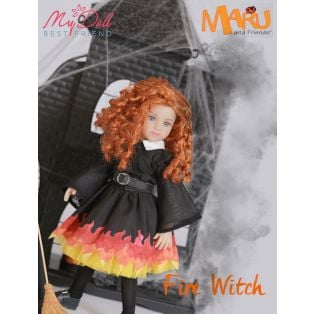 Maru & Friends Mini Pal Limited Edition 200 Fire Witch Doll 33cm alternate image