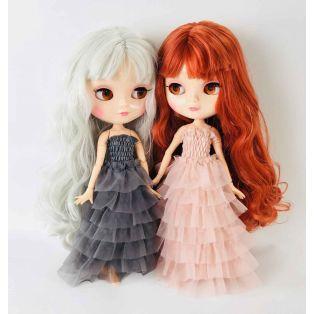 Angela Doll Clothing Dolly's Ruffled Dress 30cm - Dark Grey alternate image