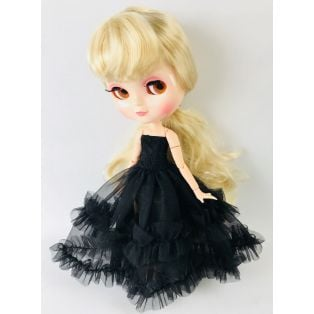 LAST FEW Angela Doll Clothing Dolly's Lace Frilly Dress 30cm - BLACK alternate image