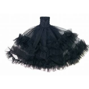 LAST FEW Angela Doll Clothing Dolly's Lace Frilly Dress 30cm - BLACK
