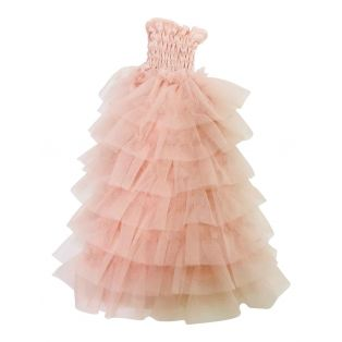 Angela Doll Clothing Dolly's Ruffled Dress 30cm - Ballet Pink alternate image