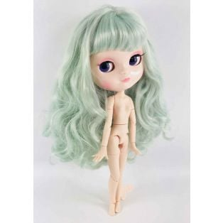 Dolly by Le Petit Tom Multi-Jointed Vinyl Fashion Angela Doll ICY Doll in TIFFANY GREEN 30cm alternate image