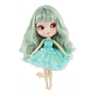 Dolly by Le Petit Tom Multi-Jointed Vinyl Fashion Angela Doll ICY Doll in TIFFANY GREEN 30cm