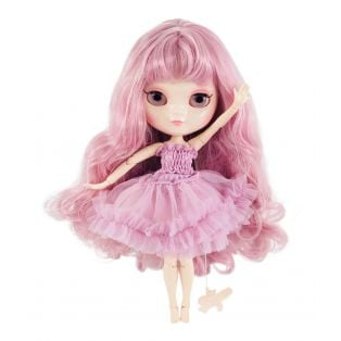 Dolly by Le Petit Tom  Multi-Jointed Vinyl Fashion Angela Doll ICY Doll in VIOLET 30cm
