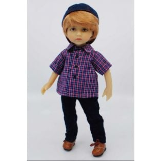 BONEKA Monday's Child BROWN EYES George 25cm Doll alternate image