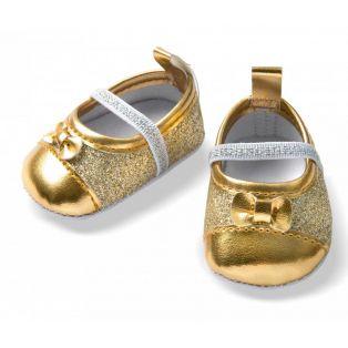 Heless Gold Glitter Ballerina Shoes 38-45cm