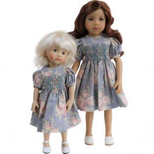 Boneka Smock Vintage Grey Dress 24cm/10