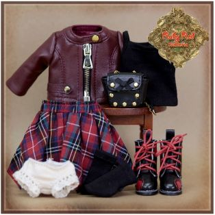Ruby Red Galleria Ten Ping Grunge Chic Outfit, 20cm alternate image