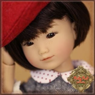 Ruby Red Galleria Ten Ping Red & Grey Outfit, 20cm