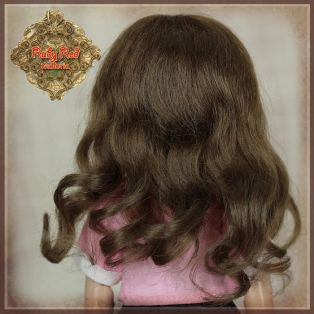 Ruby Red Galleria Ten Ping Light Brown Curly Mohair Wig 5-6, 5.5 inch alternate image