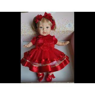 Marina & Pau Toddler Doll Alina In Red Dress 43cm alternate image