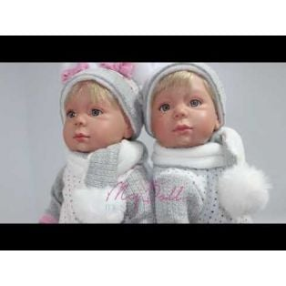 Marina & Pau Toddler Doll Tina 40cm Bunny Pyjamas alternate image