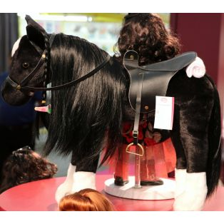 Gotz LARGE Horse With Mane & Tail To Comb & Hairbrush 50cm (Black), XL alternate image