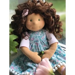 EXCLUSIVE! Ciao Bimba Waldorf Mini Darling Child Doll Natalie, 40cm