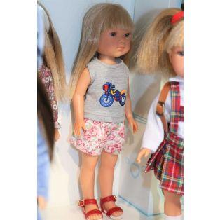 Vestida de Azul Carlota Blonde Doll In Shorts 28cm alternate image