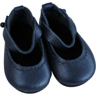 Boneka Mary Janes 42mm x 22mm Navy Leather