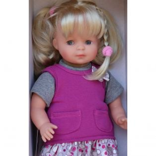 Schildkrot Strampelchen Baby Doll Blonde Hair in Red 37cm  alternate image