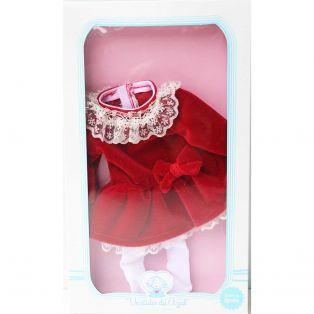 Vestida de Azul Paulina Red Velvet CLOTHES SET 33cm   alternate image