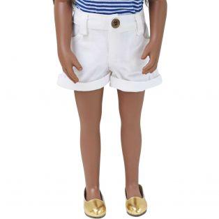Denim Collection: White Denim Shorts 45-50cm alternate image