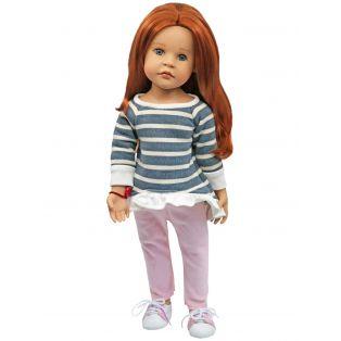 Sophia's Stripe Ruffle Hem Top & Velvet Jeans 45-50cm