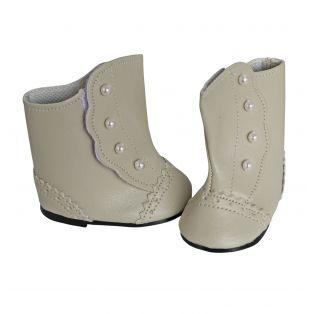 Victorian Button Boots 45-50cm in Beige