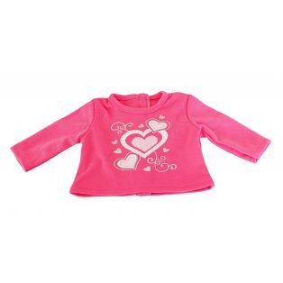 Heart & Rhinestone Sparkle Pink Top 45-50cm alternate image