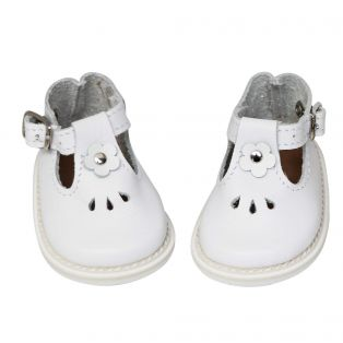 Wagner Doll Shoes Group 4 Style Tiny Blossom - WHITE