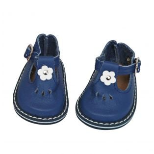 Wagner Doll Shoes Group 4 Style Tiny Blossom - FRENCH BLUE