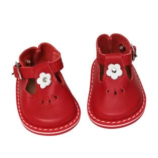 Wagner Doll Shoes Group 4 Style Tiny Blossom - RED
