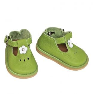 Wagner Doll Shoes Group 4 Style Tiny Blossom - GREEN