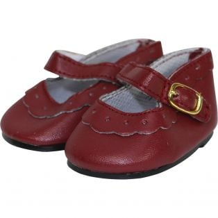 Mary Jane Brogue 45-50cm in Burgundy Red