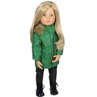 Sophia's Long Green Zip Up Coat Jacket