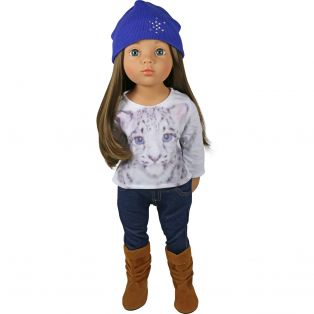 Sophia's Blue Hat With Sparkle