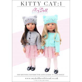 Doll Knitting Pattern 45-50cm: Kitty Cat 1