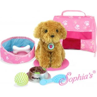 Sophia's Puppy and Carrier Set