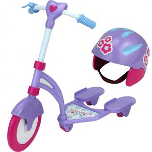 Sophia's Doll Lilac Scooter & Helmet 45-50cm