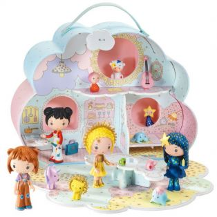 Djeco Tinyly Sunny & Mia Cloud House Play Set alternate image