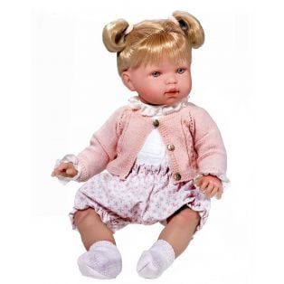 Vestida de Azul Soft Body Baby Marina Doll With Bunches 45cm