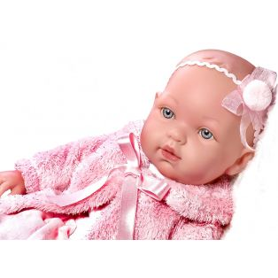 Vestida de Azul Soft Body Baby Marina Doll in Pink Fur Jacket 45cm  alternate image