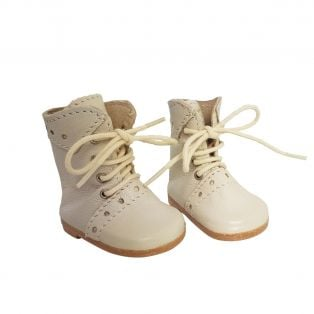 Wagner Doll Shoes Group 1 Style Meg Boots - CREAM