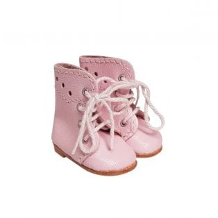 Wagner Doll Shoes Group 1 Style Meg Boots - PALE PINK