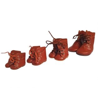 Wagner Doll Shoes Group 4 Style Meg Boots - WALNUT